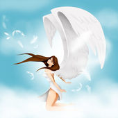 Girl with wings — Stock Photo