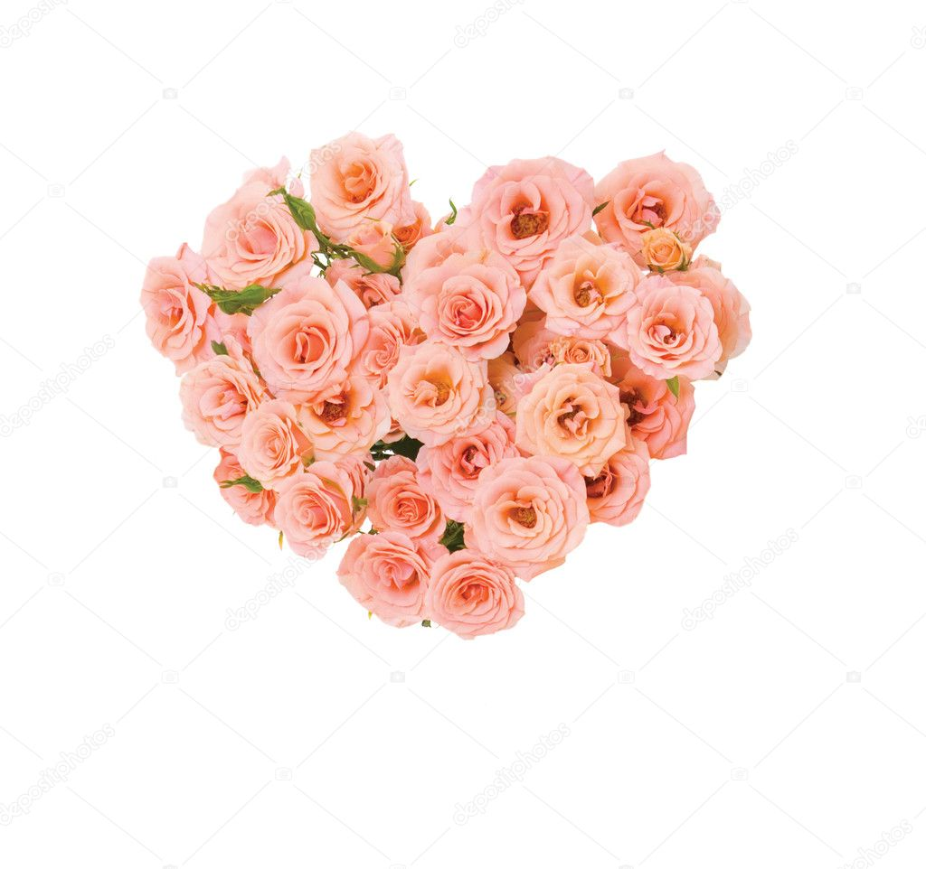 Beautiful rose bouquet in shape of heart — Stock Photo #1181131