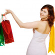 Young woman goes shopping — Stock Photo