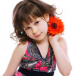 Little girl with flower — Stock Photo #1829898