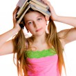 Girl with books - Stockfoto