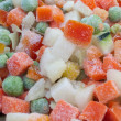 Stock Photo: Closeup view of frozen various vegetable