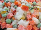 Closeup view of frozen various vegetable — Stock Photo