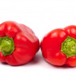 Two red paprika - Stock Photo