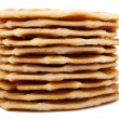 Stack of waffle cookies - Stock Photo