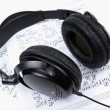 Stock Photo: Headphones and notes