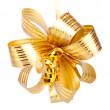 Gold yellow bow — Stock Photo