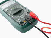 Digital multimeter electrical measuring — Stock Photo