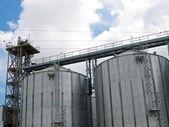 Modern grain elevator. — Stock Photo