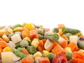 Frozen various vegetables — Stock Photo