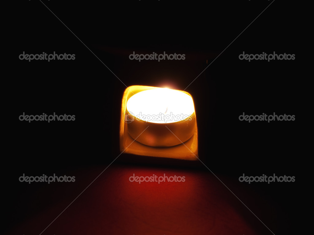 Aromalamp with candle in a dark  Stock Photo #1177382