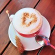 Love to cappuccino - Stock Photo