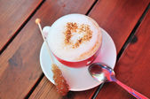 Love to cappuccino — Stock Photo