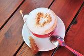 Love to cappuccino — Stock Photo