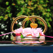 Decoration of wedding car — Stock Photo