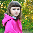 Serious little girl - Stock Photo