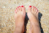 Summer pedicure — Stock Photo