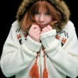 Frozen redheaded girl — Stock Photo