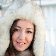 In furs — Stock Photo