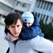 Father and son having fun — Stock Photo #1583113