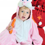 Pretty rabbit girl — Stock Photo