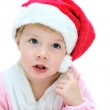 Funny Santa girl — Stock Photo #1583259