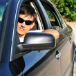 Stock Photo: Man in car