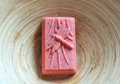 Hand-made soap bar — Stock Photo