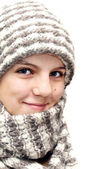 Winter teenage girl — Stock Photo