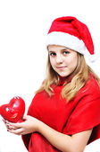 Teenage santa girl — Stock Photo