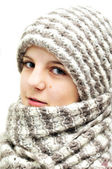 Winter teenage girl — Stock Photo