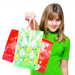Happy shopping girl - Stock Photo