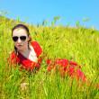 Girl in grass — Stock Photo #2114308