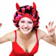 Scary sexy wicked woman - Stock Photo