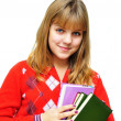 Girl holding books — Stock Photo #2327730