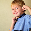 Boy with fists — Stock Photo