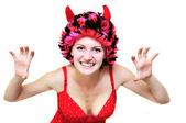 Miedo mujer malvada sexy — Foto de Stock