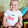 Funny sitting baby — Stock Photo