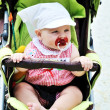 Baby in stroller — Stock Photo #2380222
