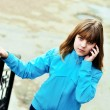 Teen girl talking by mobile — Stock Photo