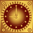 Royalty-Free Stock Vector Image: The clock on dashboard