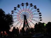 Amusement park in the night — Stock Photo