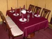 Crimson table 2 — Stock Photo