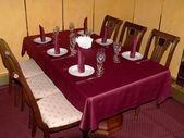 Crimson table — Stock Photo