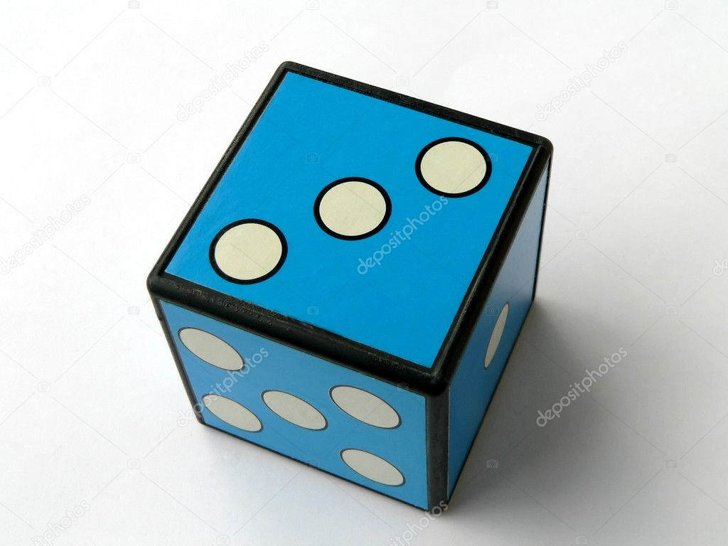 Blue dice 3  Stock Photo #1258878