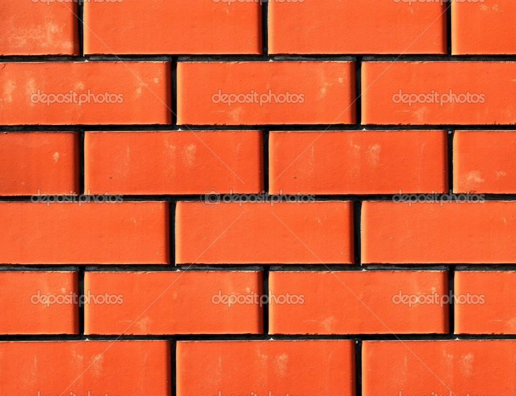 Series of the textures (Wall from a red brick) — Stock Photo #1631565