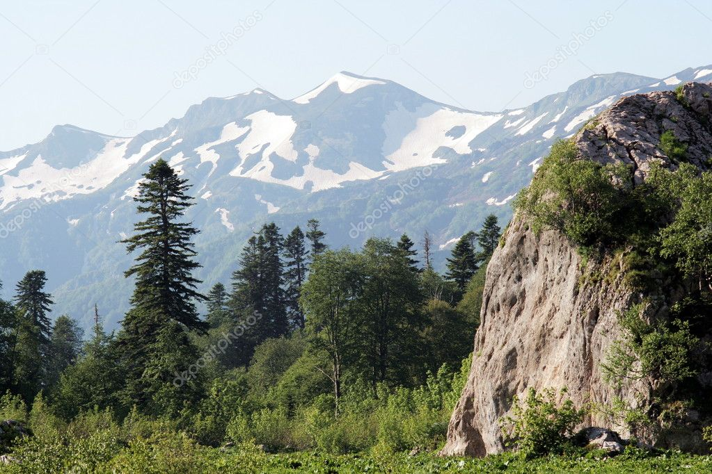 Caucasian mountain landscape. Russia, Lagonaki  Stock Photo #1633382