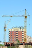 Two lifting cranes 2 — Stock Photo