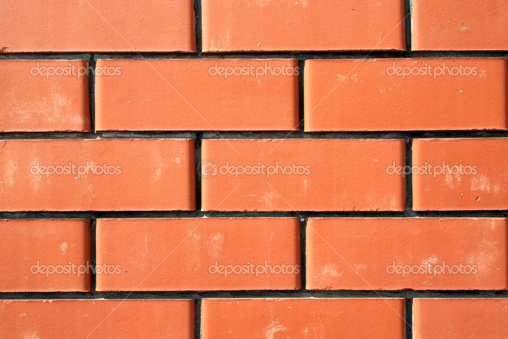 Series of the textures (Wall from a red brick 2) — Foto de Stock   #2068283