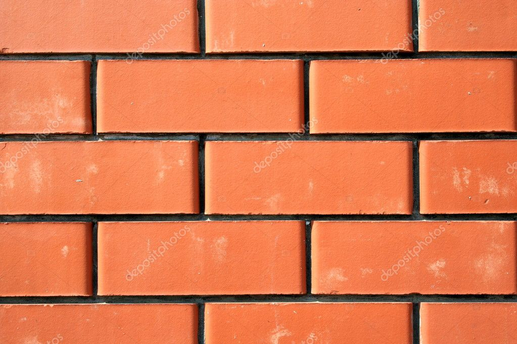Series of the textures (Wall from a red brick 2) — 图库照片 #2068283